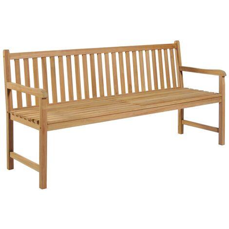 Banco de jardín 180 cm madera maciza de teca