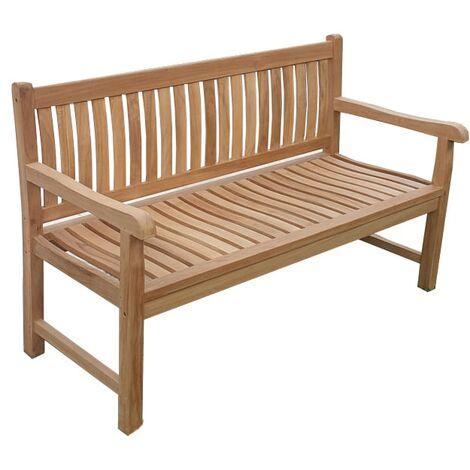 Banco de jardín CILOWA 150 cm Teca Premium
