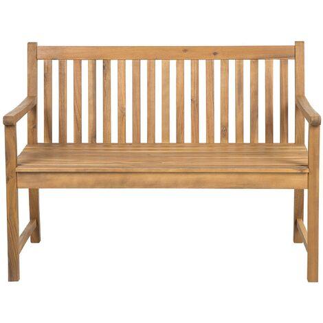Banco de jardín de madera de acacia 120 cm VIVARA