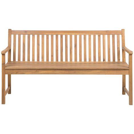 Banco de jardín de madera de acacia 160 cm VIVARA