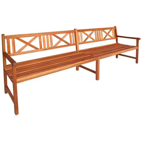 Banco de jardín de madera de acacia maciza 240 cm