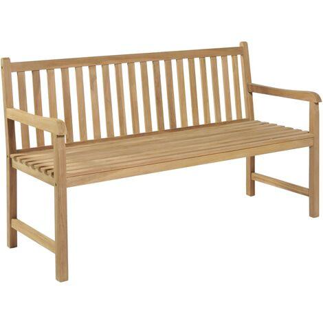 Banco de jardín de madera de teca 150 cm