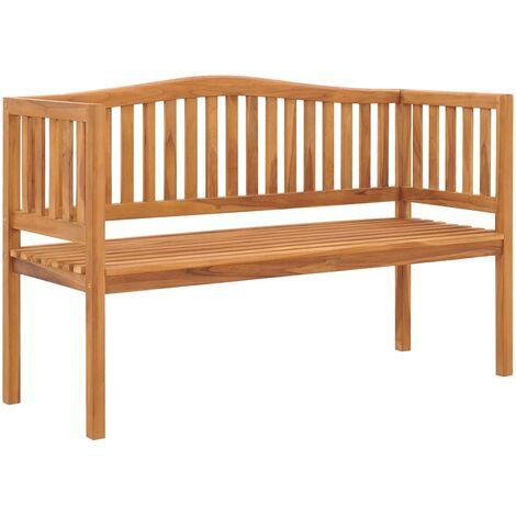 Banco de jardín de madera maciza de teca 150 cm