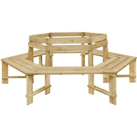 Banco de jardín de madera pino impregnada 240 cm
