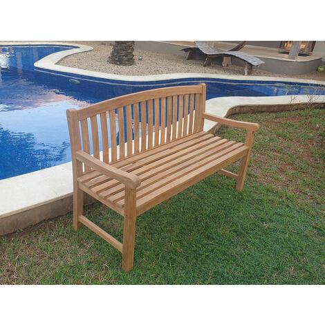 Banco de jardín LOHIA 150 cm Teca Premium