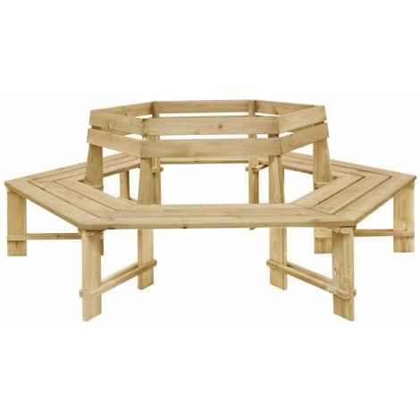 Banco de jardin madera pino impregnada FSC 240 cm