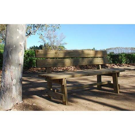 Banco de madera de cuatro plazas para jardin