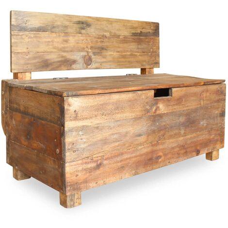 Banco de madera maciza reciclada 86x40x60 cm