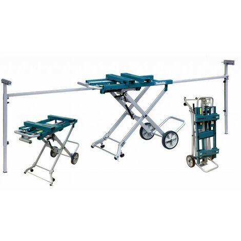 Banco de trabajo con carros y ruedas para sierras estacionarias MAKITA - DEAWST05
