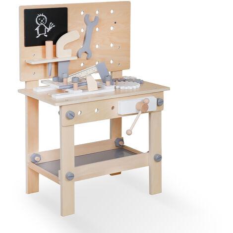 Banco de trabajo de juguete de madera para niños con herramientas Magic Bench