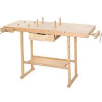 Banco de trabajo de madera con tornillos de banco modelo 2