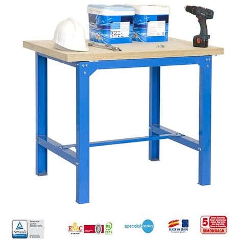 Banco De Trabajo Simonwork Bt6 Plywood 1200 Azul/Madera