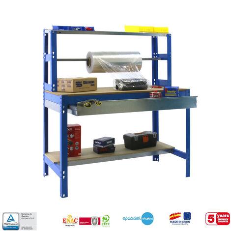 BANCO DE TRABAJO SIMONWORK MOBILE BT4 BOX 1500 AZUL/MADERA