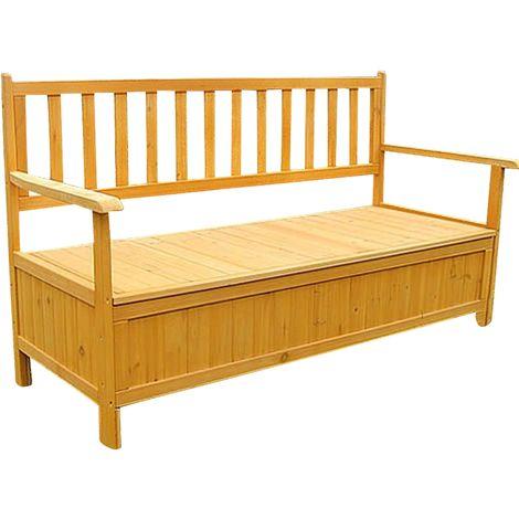 banco pecho soporte caja jardín banco madera jardín baúl NUEVO