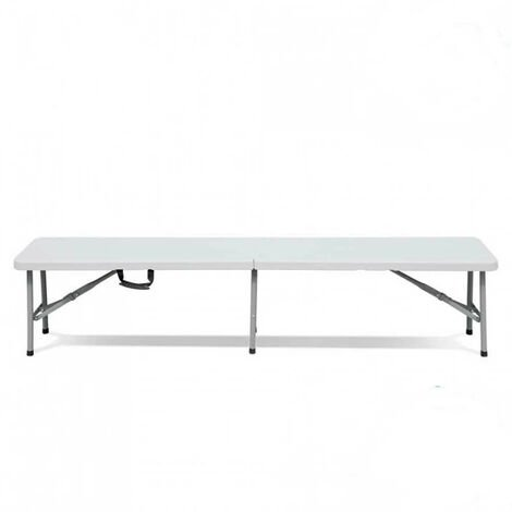 Banco Plegable 180x30x43cm Blanco Catering GH91