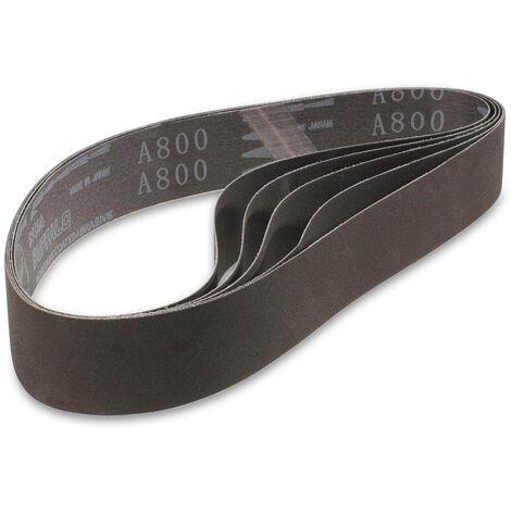 Banda Para Lijadora Cinta Abrasiva Lija Óxido Aluminio 5 Udd 460X40 Mm Grano 600