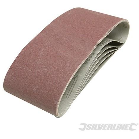 Bandas de lija 100 x 610 mm. 5 pzas (Grano 40)