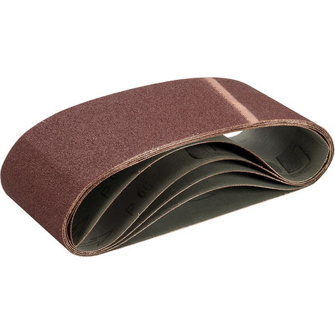 Bandas de lija 100 x 610 mm, 5 pzas Grano 60 - NEOFERR