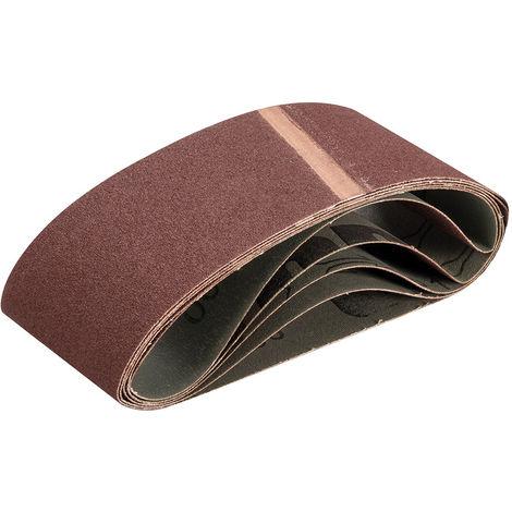 Bandas de lija 75 x 457 mm, 5 pzas Grano 100 - NEOFERR