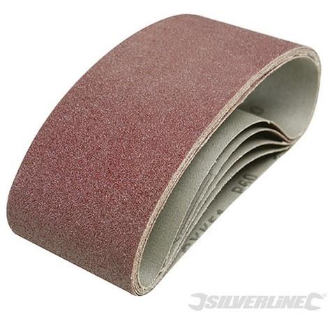 Bandas de lija 75 x 457 mm. 5 pzas (Grano 40)