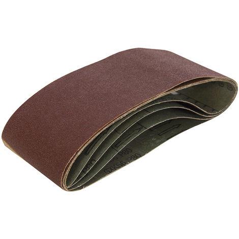 Bandas de lija 75 x 480 mm, 5 pzas Grano 60 - NEOFERR