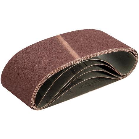 Bandas de lija 75 x 480 mm, 5 pzas Grano 80 - NEOFERR