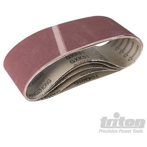 Bandas de lija de óxido de aluminio. 5 pzas (Grano 180)