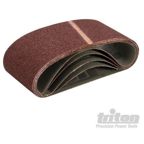 Bande abrasive 100x560 mm support toile Triton grain 40, le lot de 5