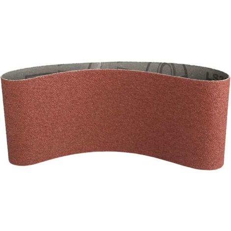 Bande abrasive 100x610 mm support toile Grain 80 - Qualité Pro Klingspor !