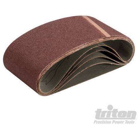 Bande abrasive 533X75 mm support toilé Triton grain 80, le lot de 5