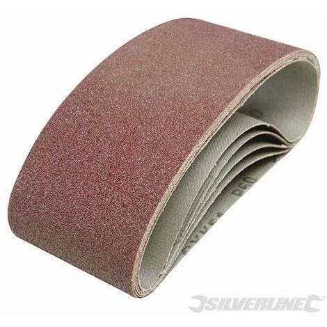 Bande abrasive 75x457 mm grain 80, le lot de 5