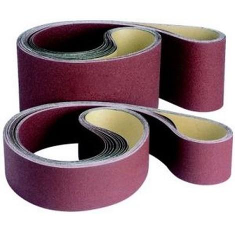 Bande abrasive, de 100 x 1000 mm avec un poudrage au corindon, Grain : 80
