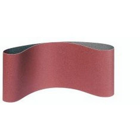 Bande abrasive, de 100 x 620 mm avec un dense poudrage au corindon, Grain : 180