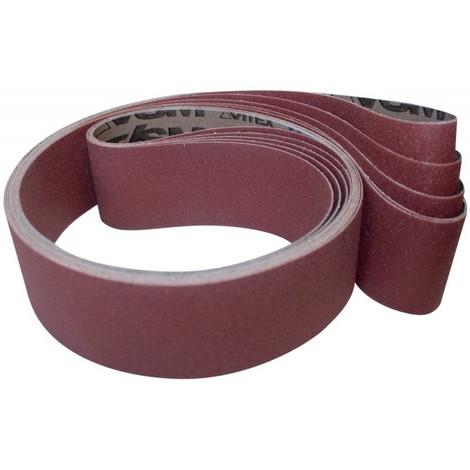 Bande abrasive KK711X L. 1000 mm l. 50 mm granul. 60 p. acier / aluminium corindon