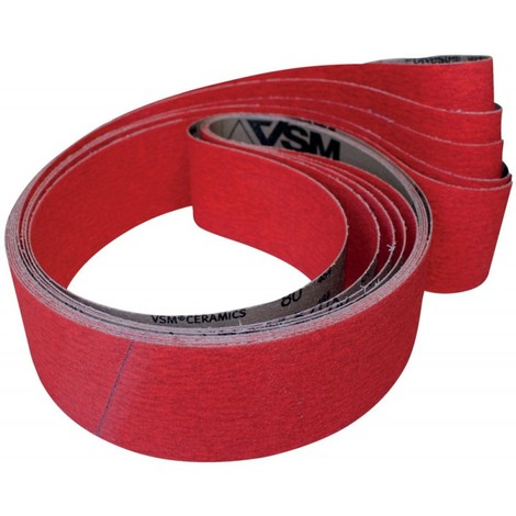 Bande abrasive XK870X L. 2000 mm l. 150 mm granul. 120 p. acier / titane / métaux non ferreux grain céramique