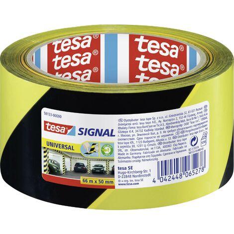 Bande adhésive de marquage tesa 58133-00000-00 jaune, noir (L x l) 66 m x 50 mm 1 pc(s) Y56957