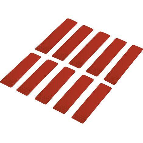 Bande adhésive RTS Conrad Components 1282797 rouge (L x l) 100 mm x 25 mm 10 pc(s)
