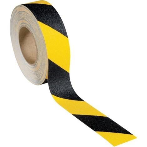 Bande anti-dérapant 50mmx18,25m noir/jaune