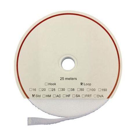 Bande auto-agrippante FASTECH® T0201600000225 T0201600000225 acrylate à coller partie velours (L x l) 25000 mm x 16 mm