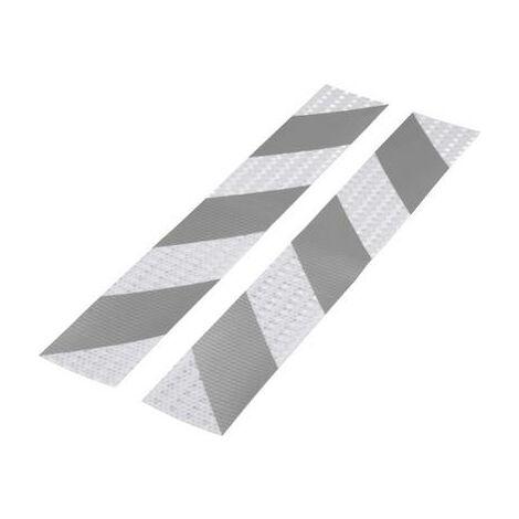 Bande davertissement RTS Conrad Components 1226954 argent, gris (L x l) 400 mm x 60 mm 2 pc(s)