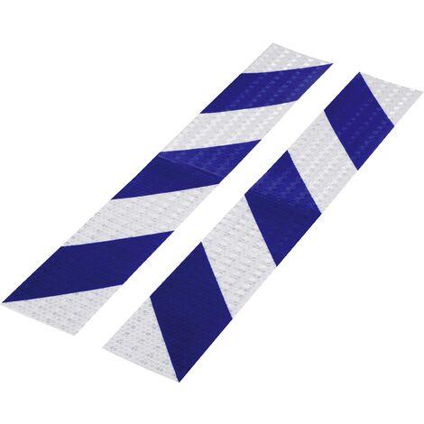 Bande d'avertissement RTS Conrad Components 1226956 bleu, argent (L x l) 40 cm x 60 mm 2 pc(s) A580381