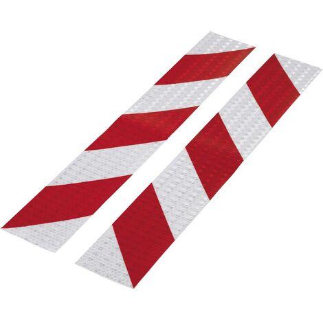 Bande davertissement TOOLCRAFT RTS60/400-RD 1564046 RTS rouge, argent (L x l) 400 mm x 60 mm 1 set