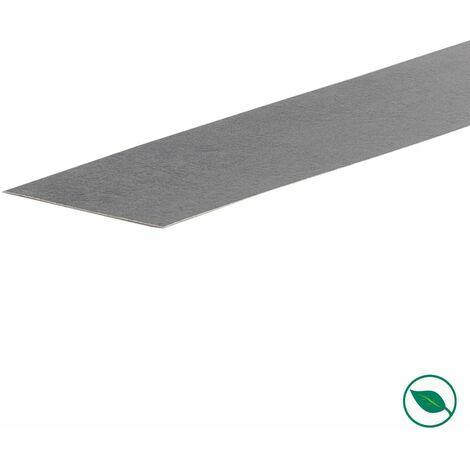 Bande de chant rénovation d'escalier stratifié dark grey 60 x 400 mm .