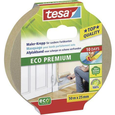 Bande de masquage tesa® Eco Premium tesa 56460-00 marron (L x l) 50 m x 25 mm caoutchouc 1 rouleau(x)