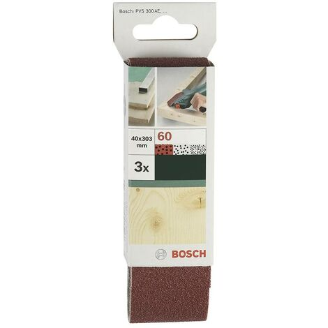 Bande de ponçage Bosch Accessories 2609256183 Grain 80 (L x l) 303 mm x 40 mm 3 pc(s)