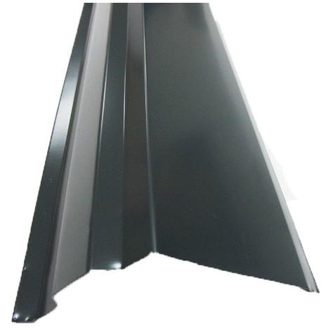 Bande de rive toiture acier galvanisé laqué aspect tuile L1,20 m