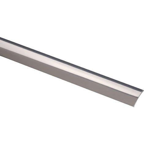 Bande de seuil Acier inox poli largeur 30 mm Profilpas