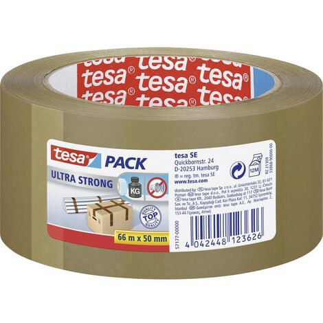 Bande demballage tesapack® Ultra Strong tesa 57177-00000-00 marron (L x l) 66 m x 50 mm 66 m