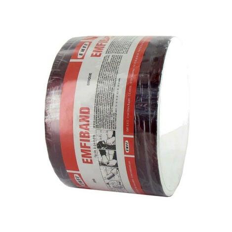 Bande d'étanchéité autocollante à froid rouge brique EMFI 10cm x 10m