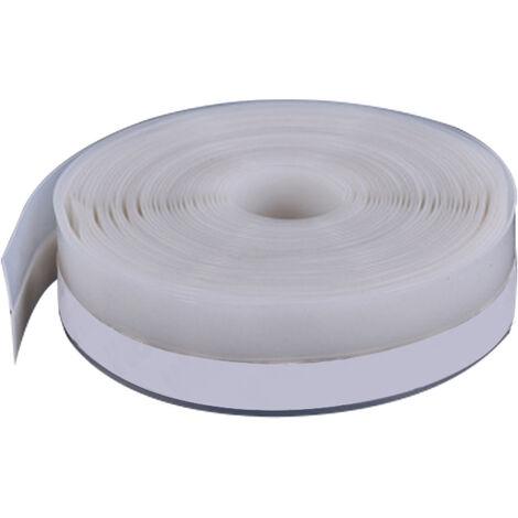 Bande d'etancheite multifonctionnelle en silicone pour portes et fenetres, blanc 25 mm